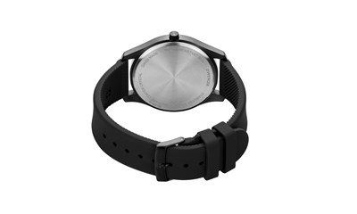 CITY ACTIVE Ø43, black case, cream dial, black silicone - W