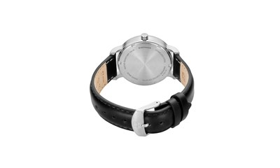 URBAN CLASSIC Ø35, SST case, silver-white dial, black leather - W