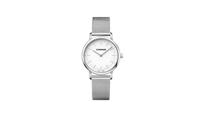 URBAN CLASSIC Ø35, SST case, silver-white dial, SST mesh - W