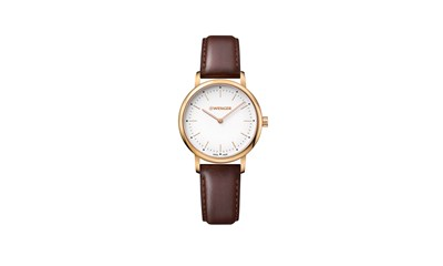 URBAN CLASSIC Ø35, 3N case, silver-white dial, brown leather - W