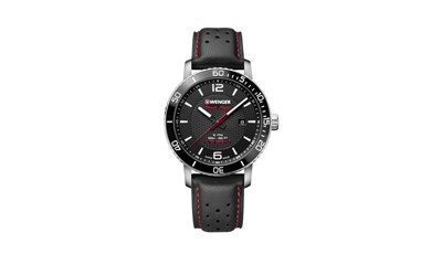 ROADSTER BLACK NIGHT Ø45, Black dial, Black leather - Wenger