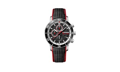 ROADSTER BLACK NIGHT CHRONO Ø45, Black dial, Carbon leather - W