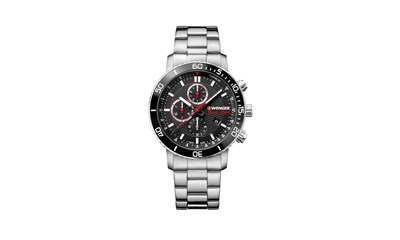 ROADSTER BLACK NIGHT CHRONO Ø45, Black dial, Steel bracelet - W