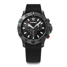 SEAFORCE CHRONO Ø43, black PVD case, black dial, black rubber strap